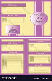 coffee shop menu template coffee shop menu template royalty free vector image