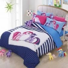 Little Girls Queen Size Bedding Sets by Twin U0026 Queen Size Blue Little Pony Duvet Cover Bedding Set Girls