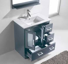 Zola Bathroom Furniture Virtu Usa Zola 30 Single Bathroom Vanity Cabinet Set In Grey