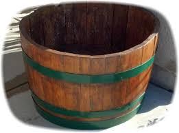 planter barrel colored hoop bands