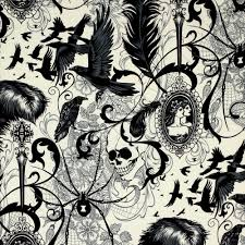 Halloween Fabric Panels by Alexander Henry After Dark Natural Fabric Emerald City Fabrics