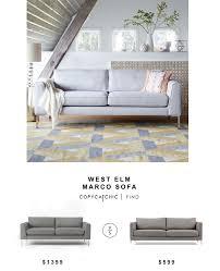 West Elm Sofa Bed West Elm Marco Sofa Copycatchic