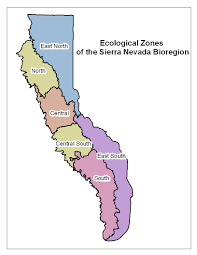 Sierra Nevada Mountains Map Living Assessment Chapter 7 Bio Region