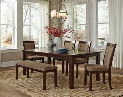 rodessa table and 4 side chairs merlot levin furniture