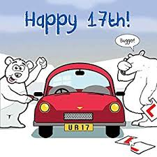 twizler birthday card with polar car and ripped
