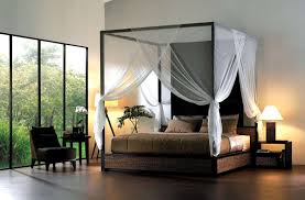 Sheer Bed Canopy Enhance Your Fours Poster Bed With Canopy Bed Curtains Midcityeast