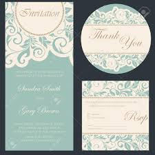 Wedding Invite Card Stock Set Of Wedding Invitation Cards Royalty Free Cliparts Vectors