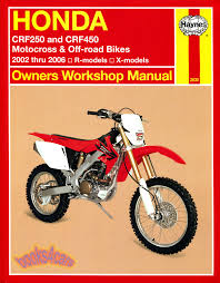 shop manual honda service repair book crf250 crf450 haynes clymer