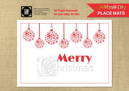 Christmas Table Decoration Printables by Christmas Placemats Baubles Template