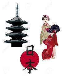 japanese symbols isolated on white background royalty free