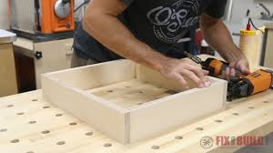 how to build a table with drawers modern diy end table side table fixthisbuildthat