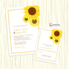 Wedding Invitation Acceptance Card Free Pdf Download Sunflower Wedding Invitation And Rsvp