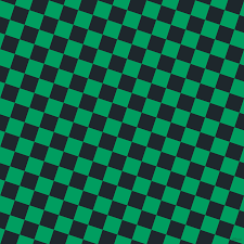 Shamrock Green Black Pearl And Shamrock Green Checkers Chequered Checkered