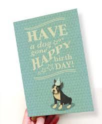 printable pdf cute boston terrier birthday card blue white