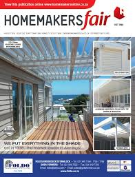 Patio Awnings Cape Town Homemakersfair Cape Town October 2016 By Homemakers Issuu