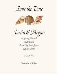 wedding save the date stationery seashell wedding stationery