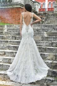 Cap Sleeved Crepe Sheath Wedding Dress David U0027s Bridal Mermaid Open Back Wedding Dress Vosoi Com