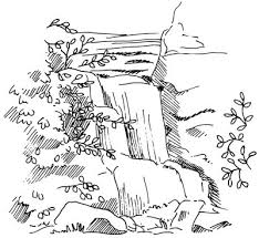 How To Draw Landscapes by How To Draw A Waterfall Howstuffworks