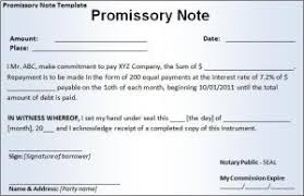 promissory note template free word templates