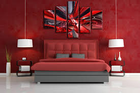 red and black home decor no wooden frame not ready to hang art canvas print abstract oil