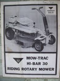 amf owners manual for mow trac hi bar 30 1265 riding mower 1265