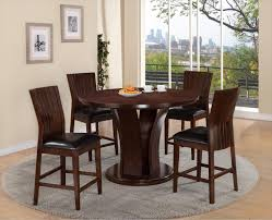 Espresso Dining Room Furniture by Crown Mark Daria Round Pub Height Dining Table And Stool Set