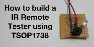 how to build a ir remote tester using tsop1738 youtube