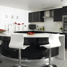 Curved Kitchen Island Stunning Curved Kitchen Island Ideas Orangearts Black And White