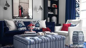 blue and white family room house beautiful pinterest blue white red room house beautiful great spaces pinterest red