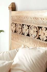 Carved Wood Headboard Carved Wood Headboard The Kerala White Headboard Carved