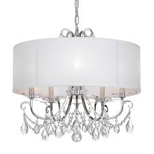 Crystal And Chrome Chandelier Crystorama Othello 5 Light Clear Crystal Polished Chrome