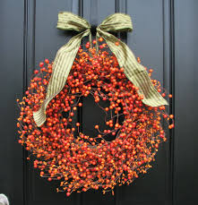 orange pip berry wreath diy decor ideas pinterest berry