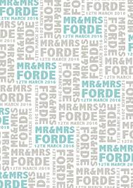 wedding gift wrapping paper personalised mr and mrs wedding wrapping paper by jodie gaul