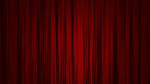 red curtains open to reveal a green screen motion background