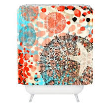 Colorful Fabric Shower Curtains Buy Coral Fabric Shower Curtains From Bed Bath U0026 Beyond