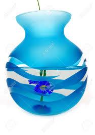 Dark Purple Vase Dark Blue Vase With Water Transparent Inside A Dark Blue Flower