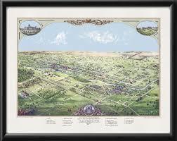 Map Of Lansing Michigan by Vintage City Maps Birdseye View Map Of Lansing Michigan 1866