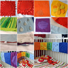 colorful baby crib side decorations