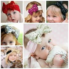 toddler hair accessories girl hair accessories sequined big bows baby headbands twist knot