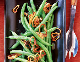 green beans with walnuts and shallot crisps vegetarian times