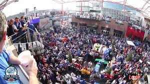kansas power and light basketball fan fest at kc live in the power light district