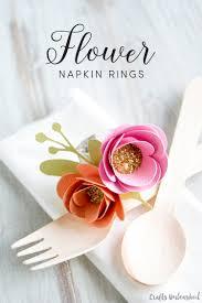 thanksgiving napkin rings craft paper flower diy napkin ring tutorial