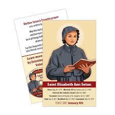 prayer card elizabeth seton prayer card