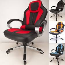 Desk Chair For Gaming by Raygar Deluxe Padded Sports Racing Gaming U0026 Office Chair Red