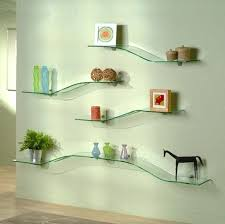 wall shelves wall shelves modern fancy inspiration ideas glass with curved
