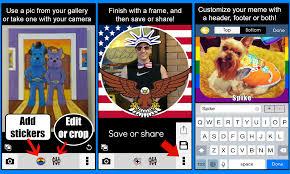 Custom Meme App - custom stickers frames appsmad