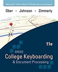 microsoft office word 2013 manual to accompany gregg college