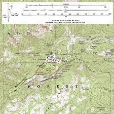mt lemmon hiking trails map trail mt lemmon s meadow trail loop