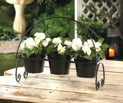ceramic plant pots with stands walnut plant stand geometric