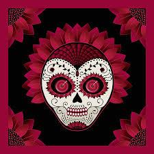 of the dead flower sugar skull digital by maryska